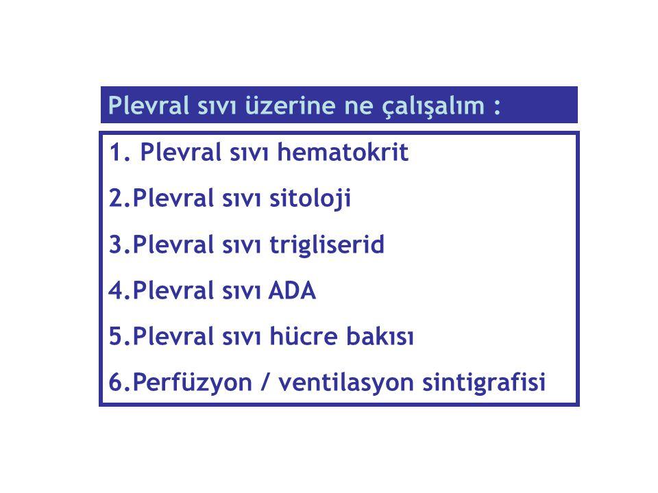 Plevral sıvı üzerine ne çalışalım :