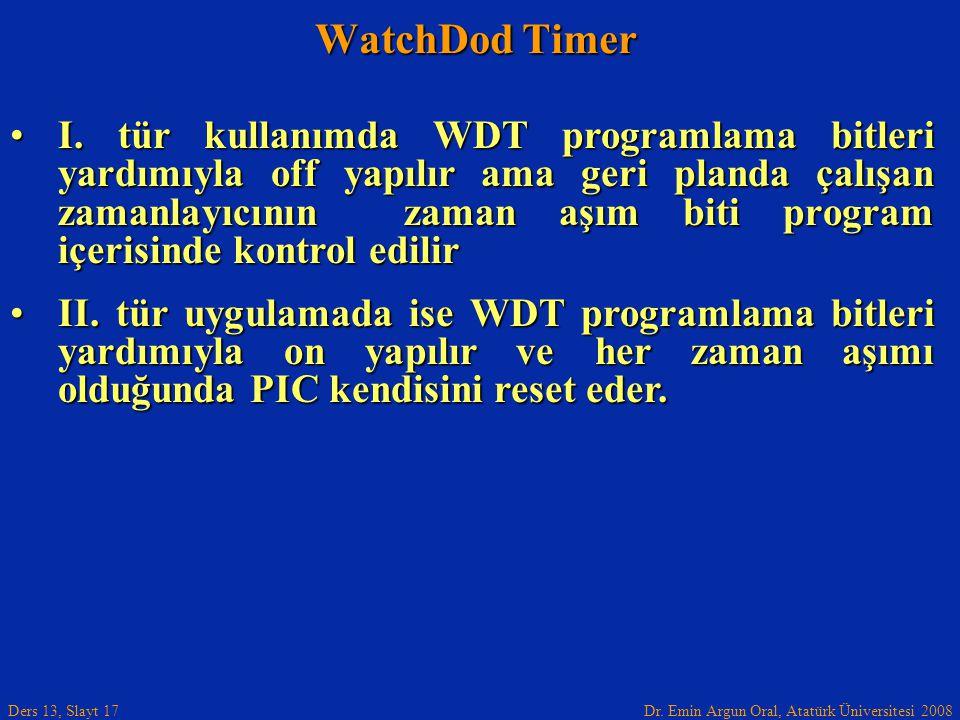 WatchDod Timer
