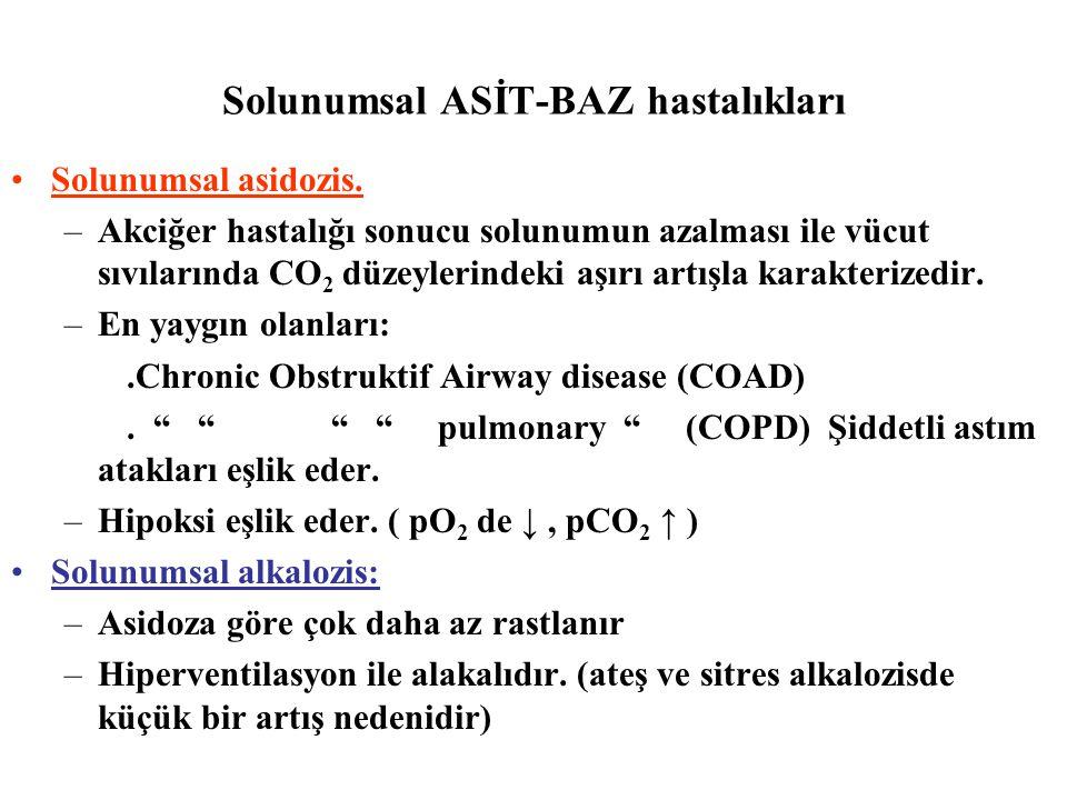 Solunumsal ASİT-BAZ hastalıkları