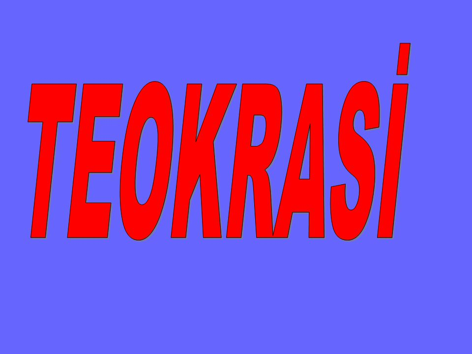 TEOKRASİ