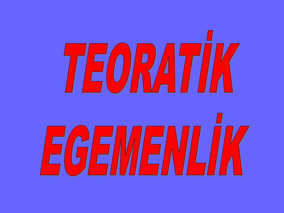 TEORATİK EGEMENLİK