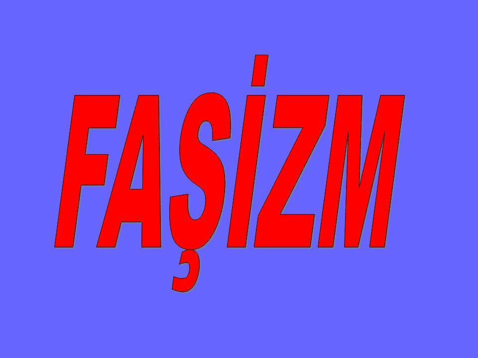 FAŞİZM