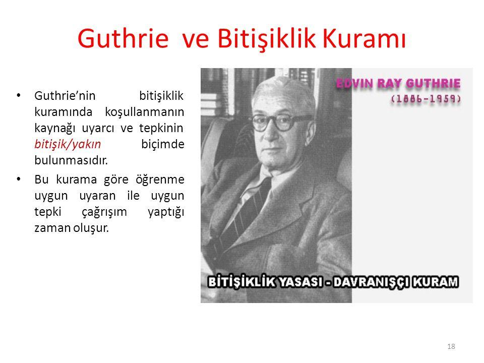 Guthrie ve Bitişiklik Kuramı