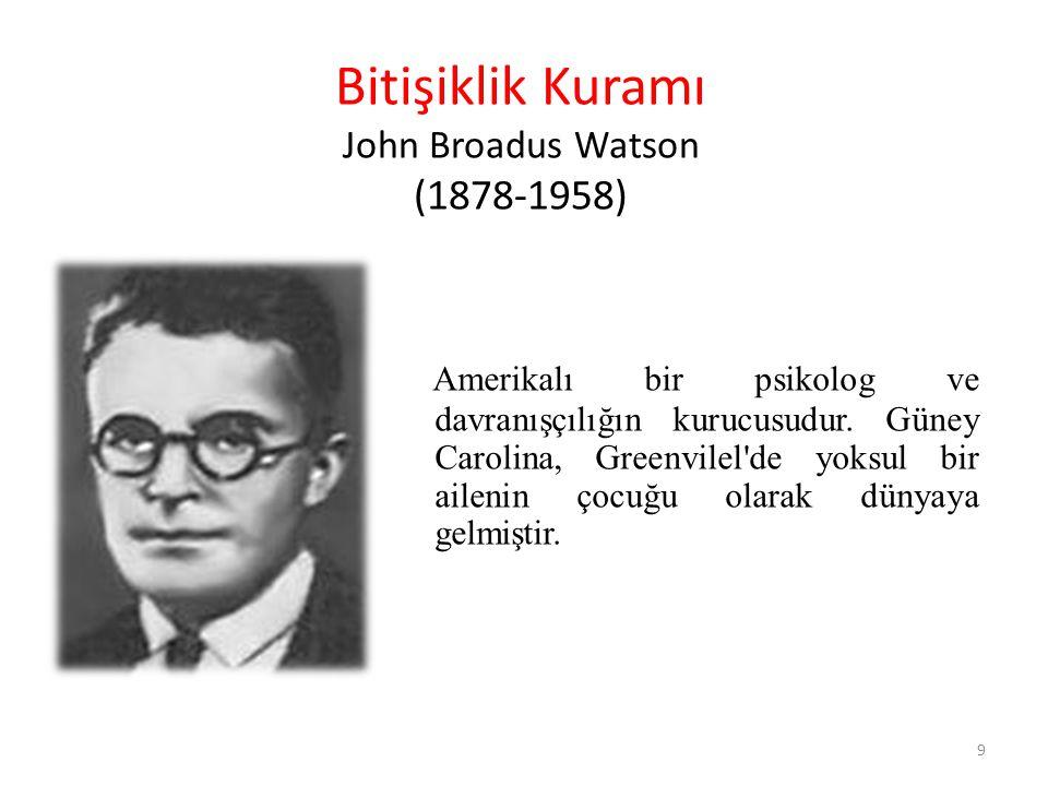 Bitişiklik Kuramı John Broadus Watson (1878-1958)