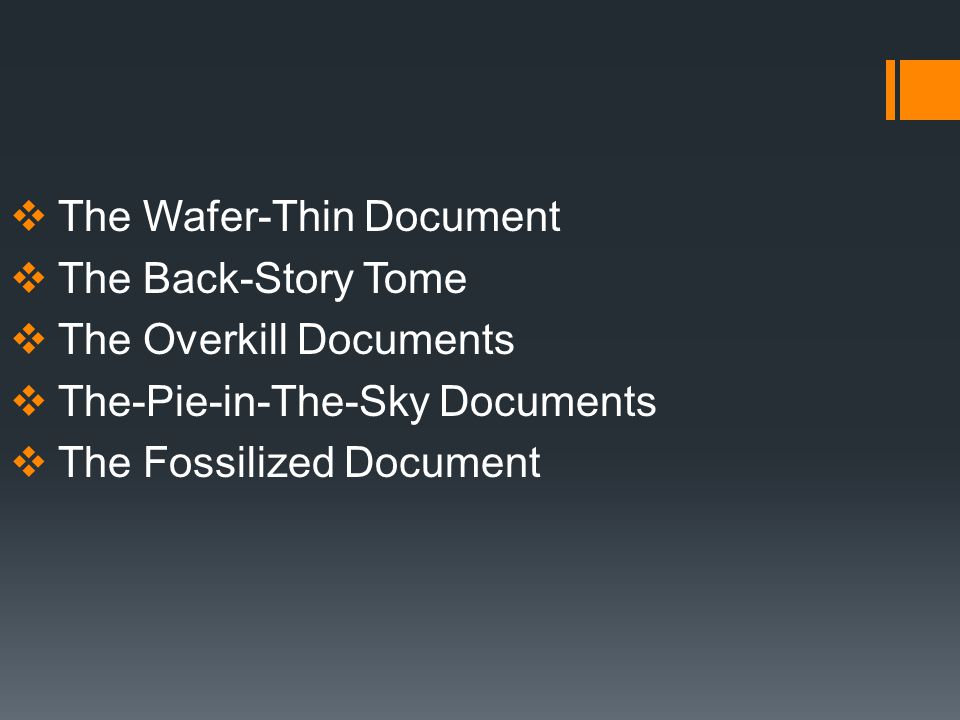 The Wafer-Thin Document