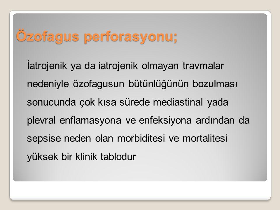 Özofagus perforasyonu;