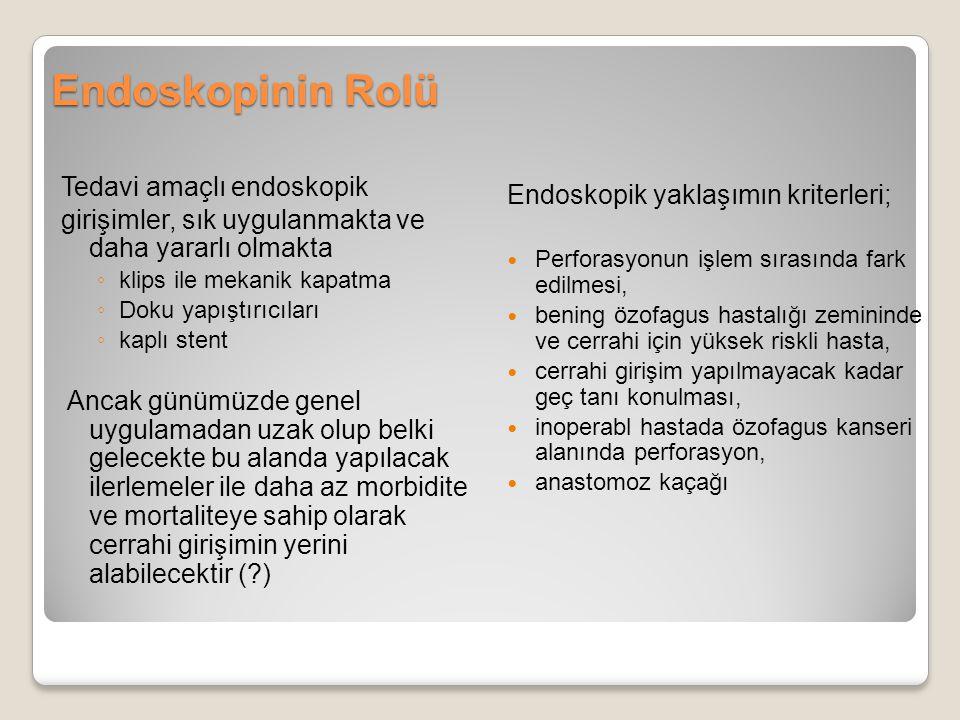 Endoskopinin Rolü Tedavi amaçlı endoskopik