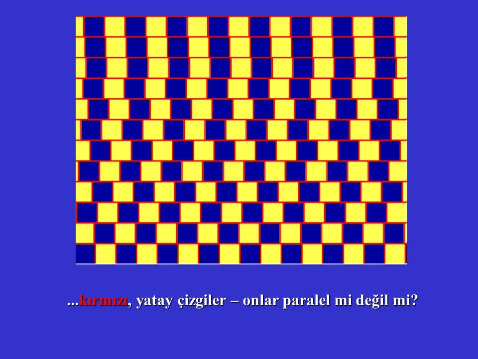 ...kırmızı, yatay çizgiler – onlar paralel mi değil mi