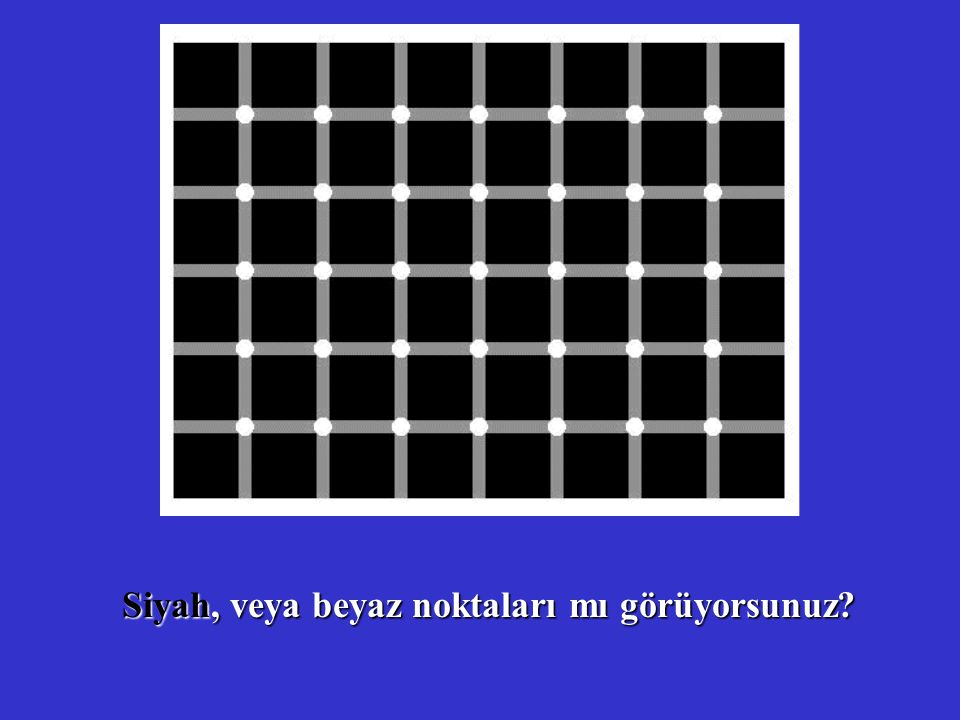 Siyah, veya beyaz noktaları mı görüyorsunuz