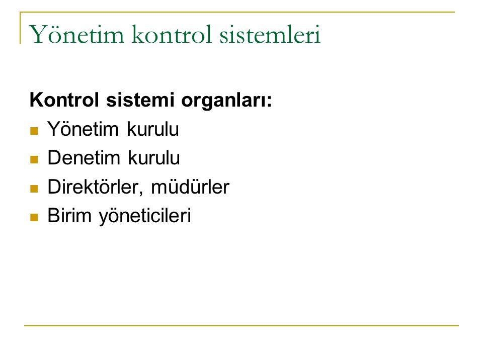 Yönetim kontrol sistemleri