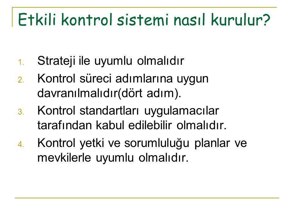 Etkili kontrol sistemi nasıl kurulur
