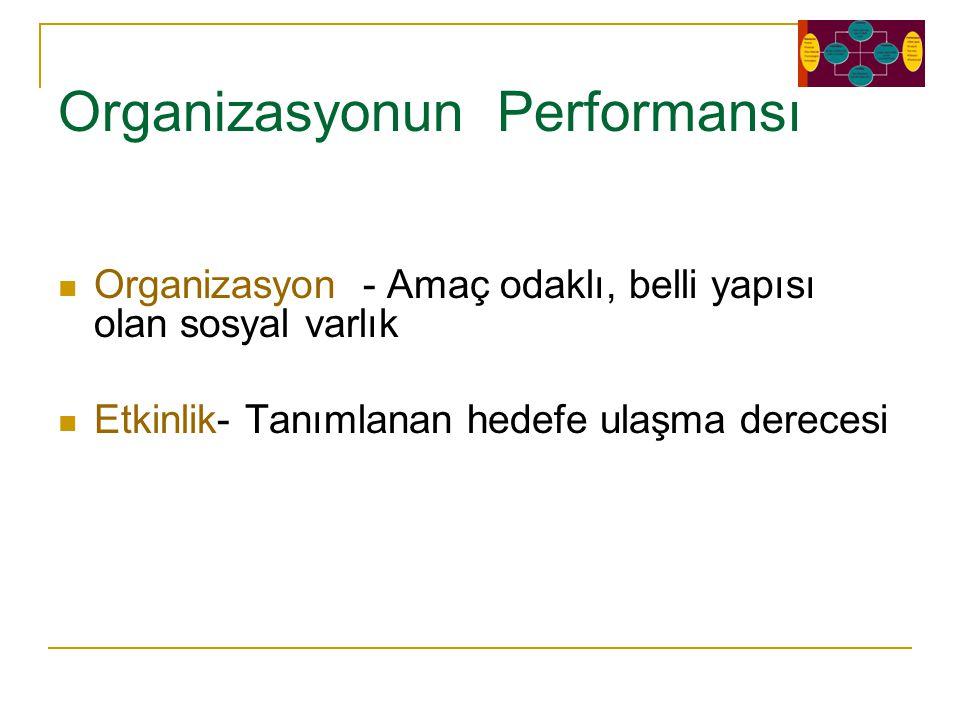 Organizasyonun Performansı