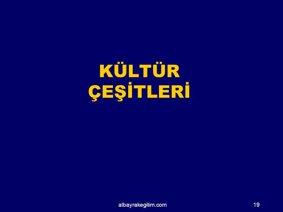 KÜLTÜR ÇEŞİTLERİ albayrakegitim.com