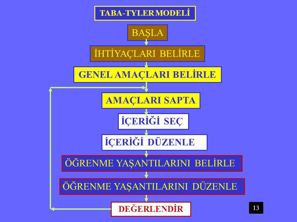 GENEL AMAÇLARI BELİRLE