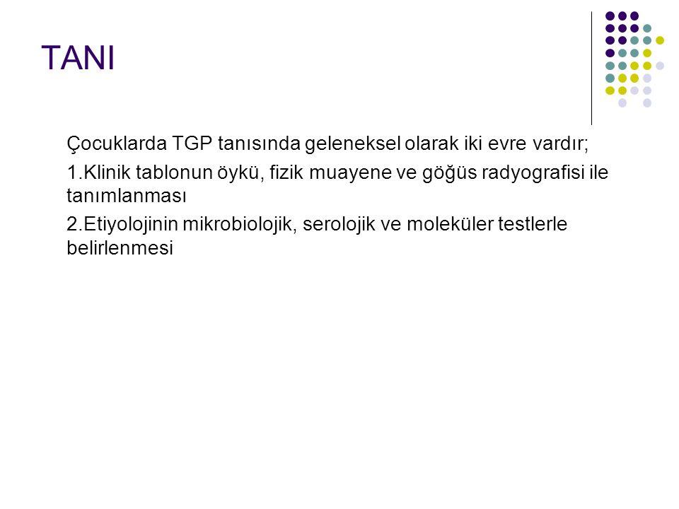 TANI Çocuklarda TGP tanısında geleneksel olarak iki evre vardır;
