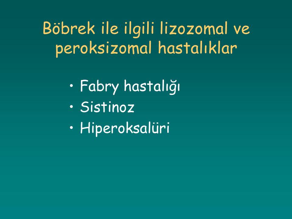 Böbrek ile ilgili lizozomal ve peroksizomal hastalıklar