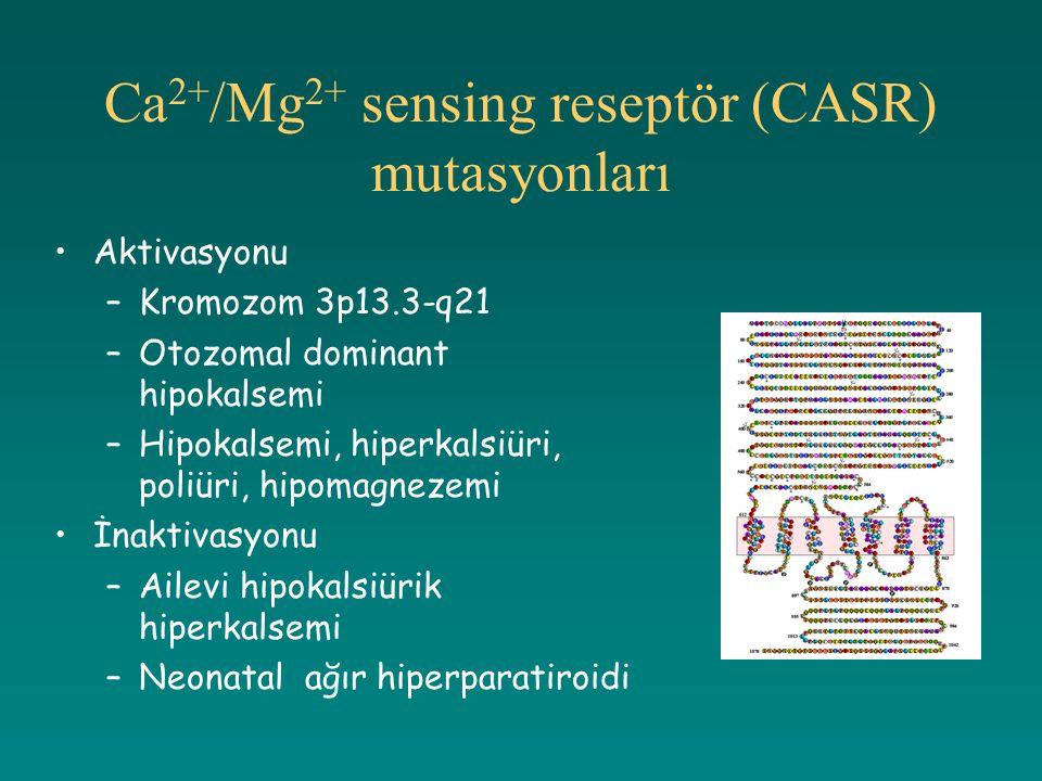 Ca2+/Mg2+ sensing reseptör (CASR) mutasyonları