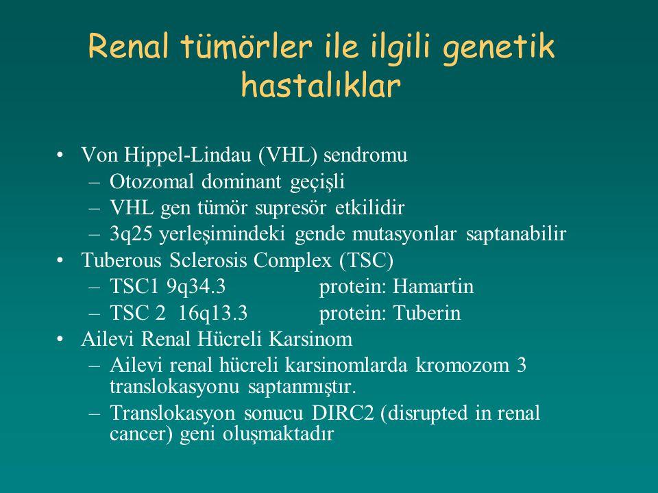 Renal tümörler ile ilgili genetik hastalıklar