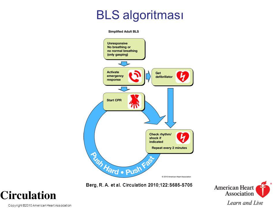 BLS algoritması Berg, R. A. et al. Circulation 2010;122:S685-S705
