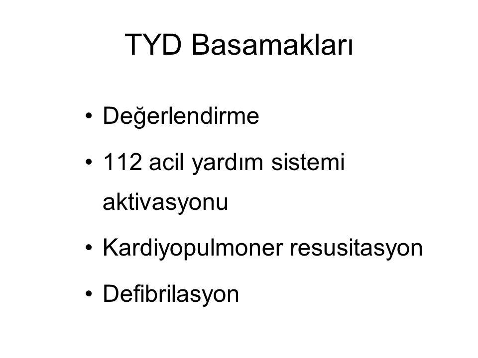 TYD Basamakları Değerlendirme 112 acil yardım sistemi aktivasyonu