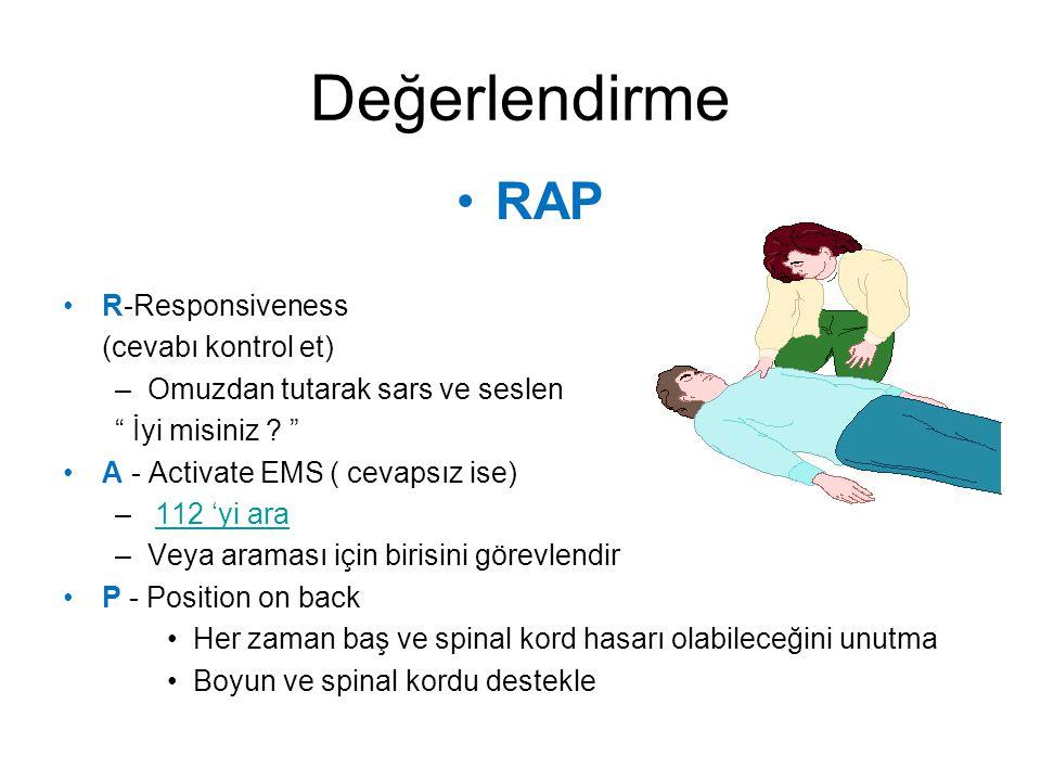 Değerlendirme RAP R-Responsiveness (cevabı kontrol et)
