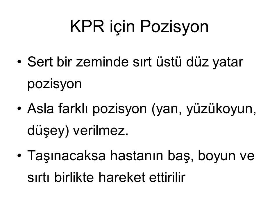 KPR için Pozisyon Sert bir zeminde sırt üstü düz yatar pozisyon