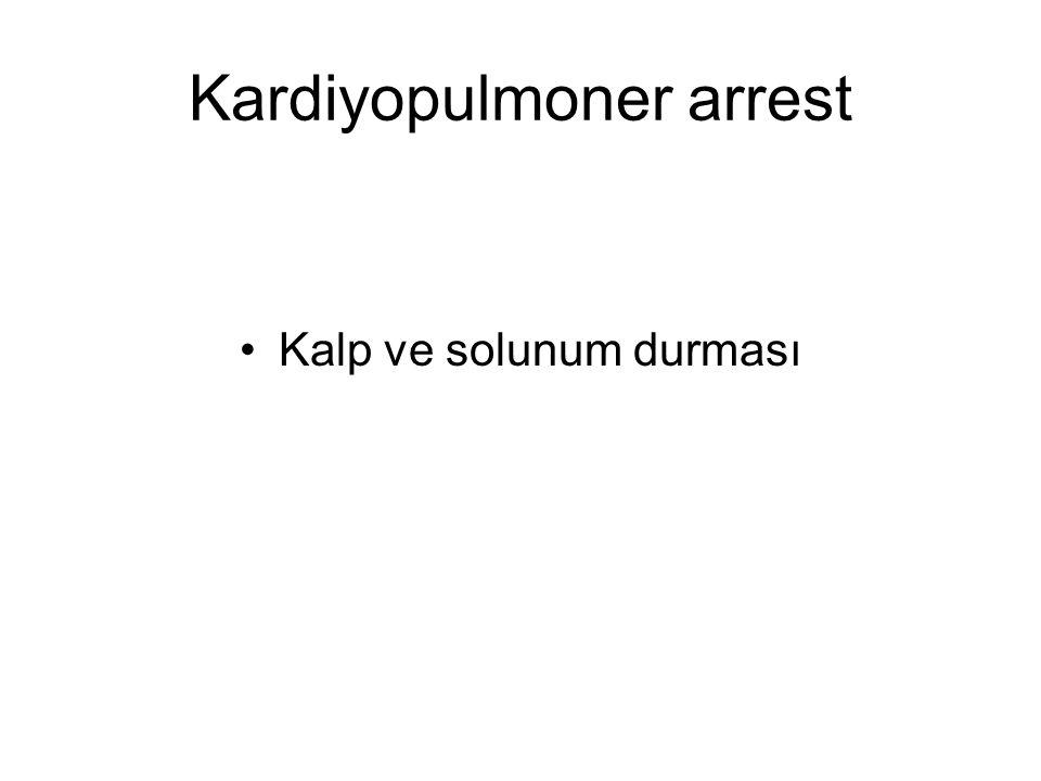 Kardiyopulmoner arrest