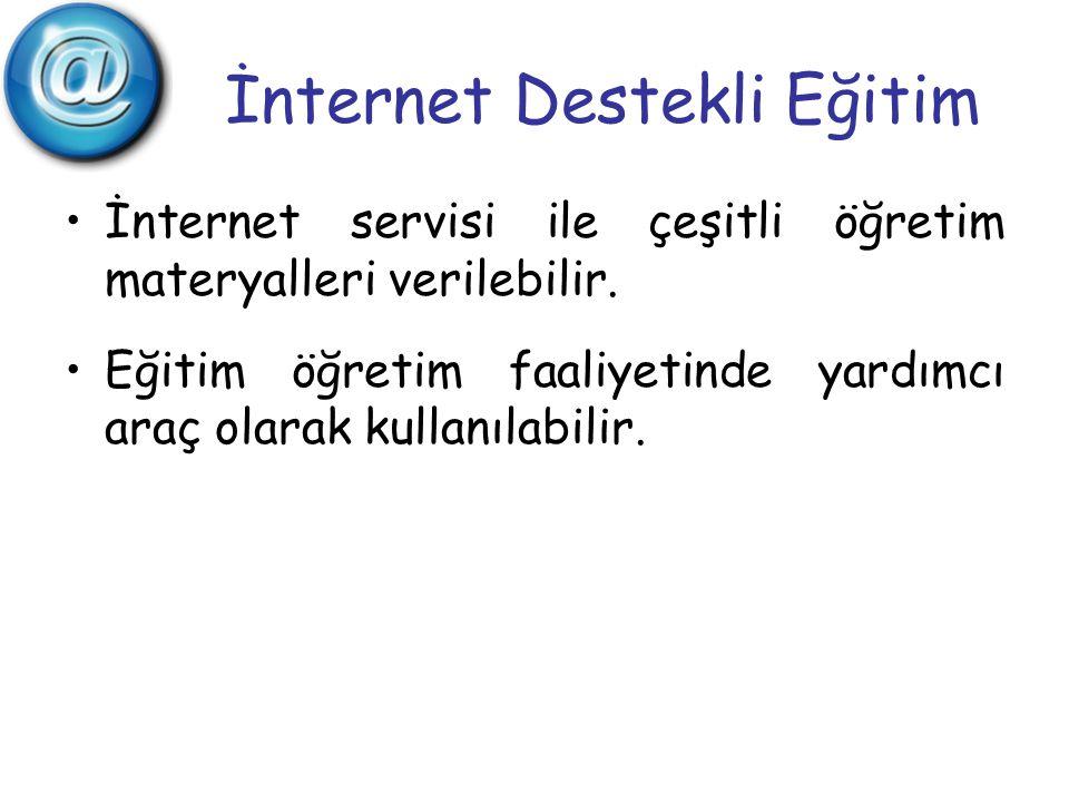 İnternet Destekli Eğitim