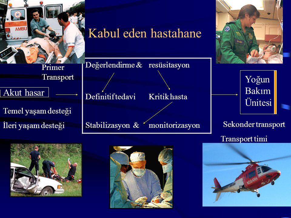 Kabul eden hastahane Yoğun Bakım Ünitesi Akut hasar Değerlendirme &