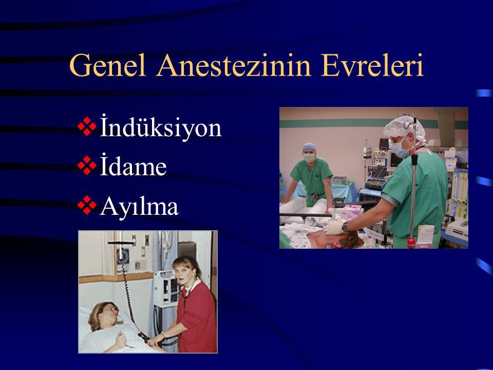 Genel Anestezinin Evreleri