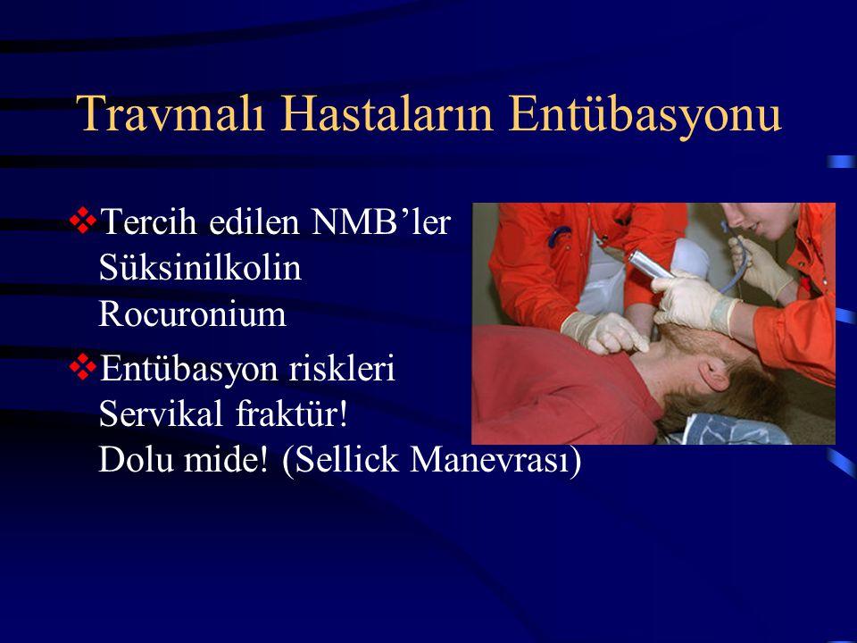 Travmalı Hastaların Entübasyonu