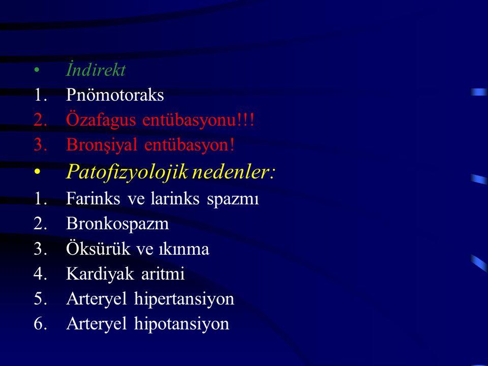 Patofizyolojik nedenler: