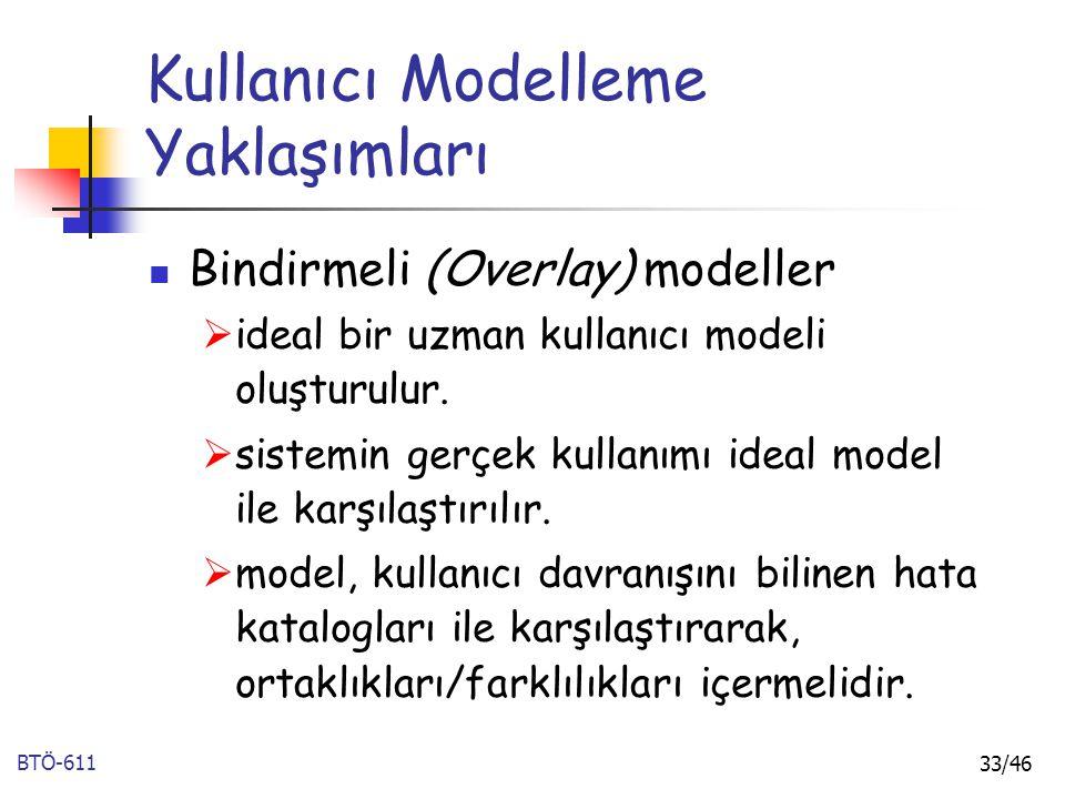 Kullanıcı Modelleme Yaklaşımları