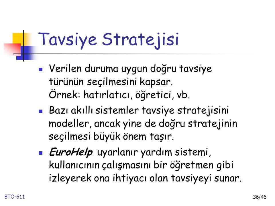 Tavsiye Stratejisi