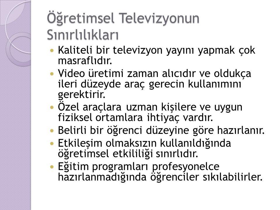 Öğretimsel Televizyonun Sınırlılıkları
