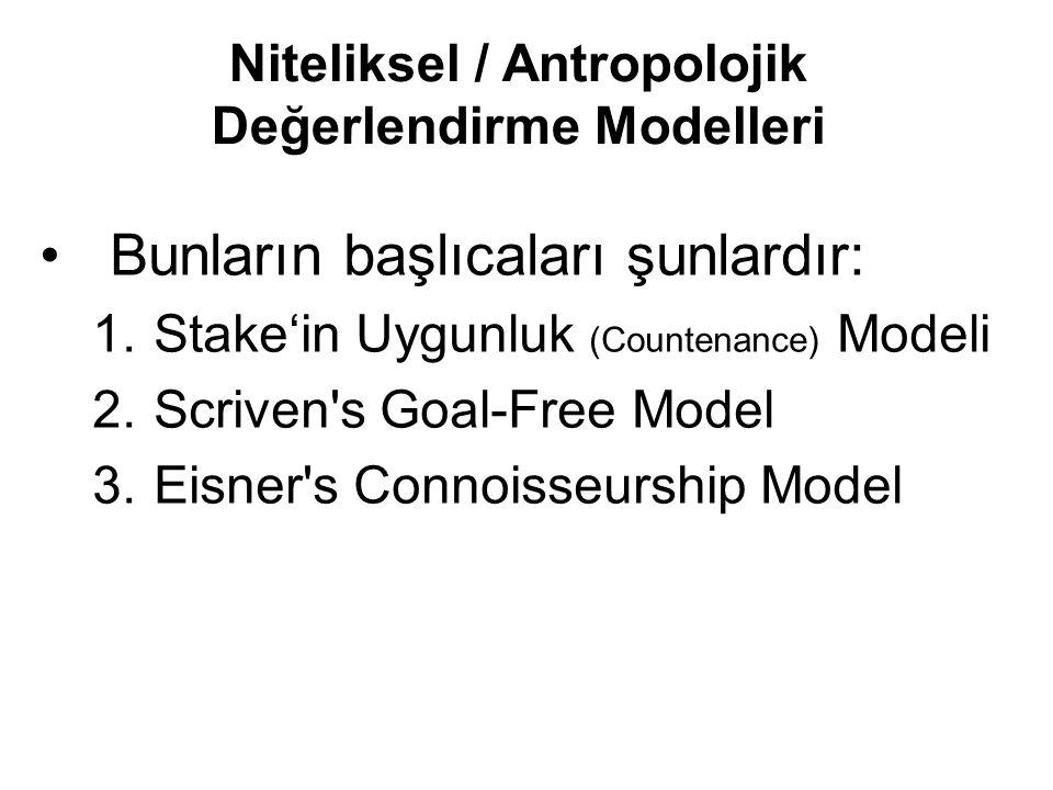 Niteliksel / Antropolojik Değerlendirme Modelleri