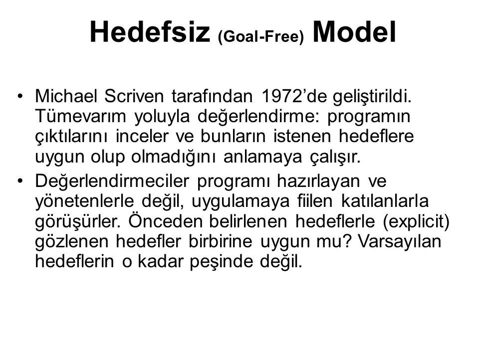 Hedefsiz (Goal-Free) Model