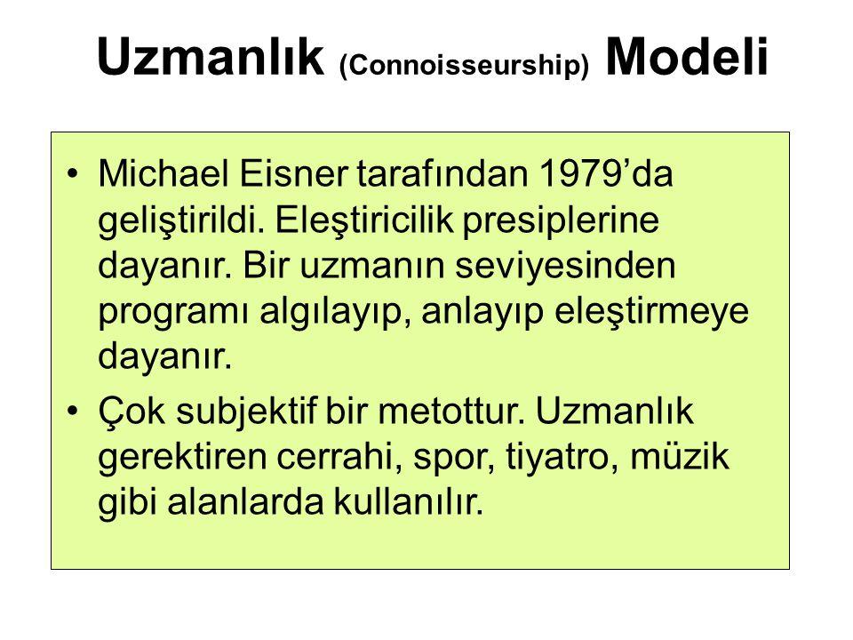 Uzmanlık (Connoisseurship) Modeli