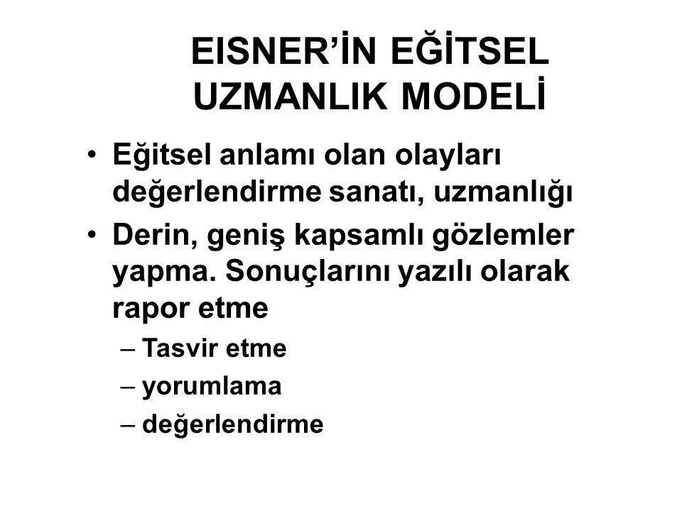 EISNER'İN EĞİTSEL UZMANLIK MODELİ