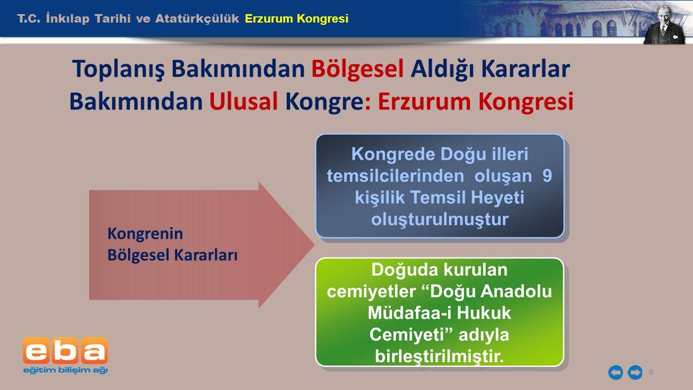 T.C. İnkılap Tarihi ve Atatürkçülük Erzurum Kongresi