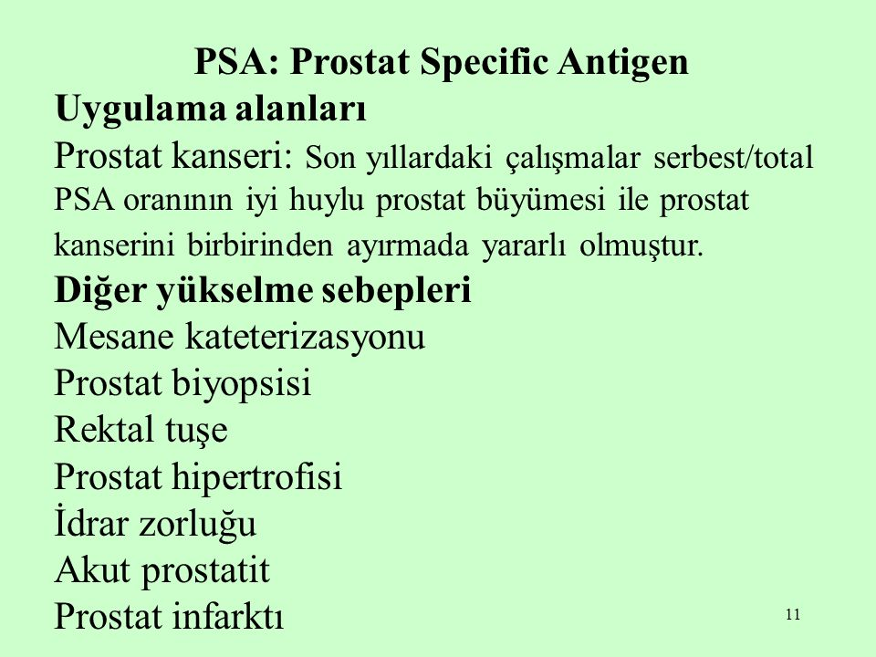 PSA: Prostat Specific Antigen