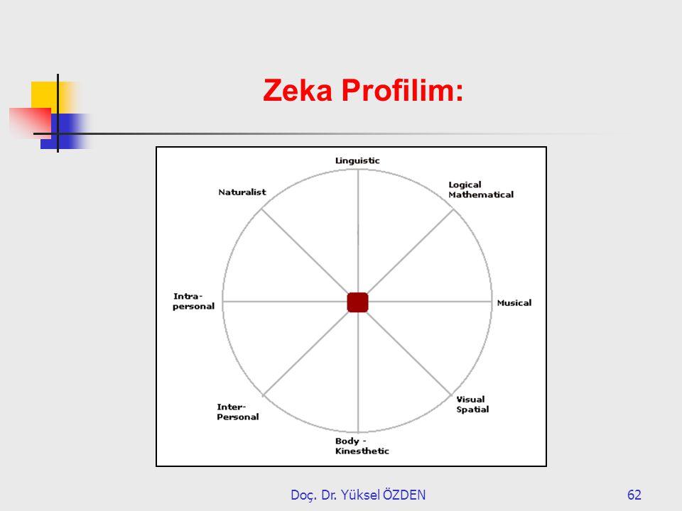 Zeka Profilim: Doç. Dr. Yüksel ÖZDEN