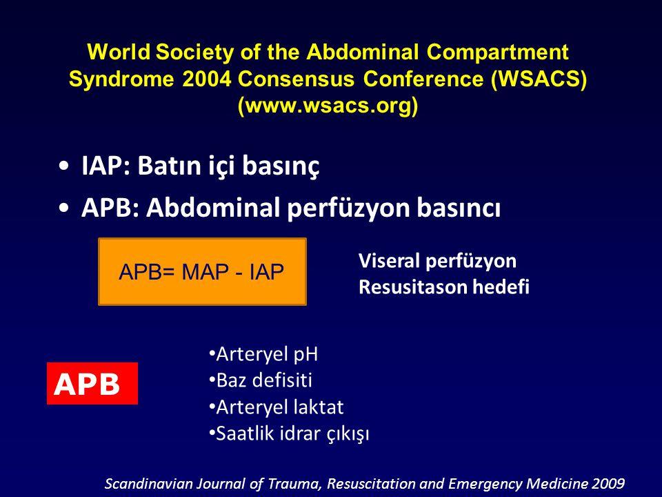 APB: Abdominal perfüzyon basıncı