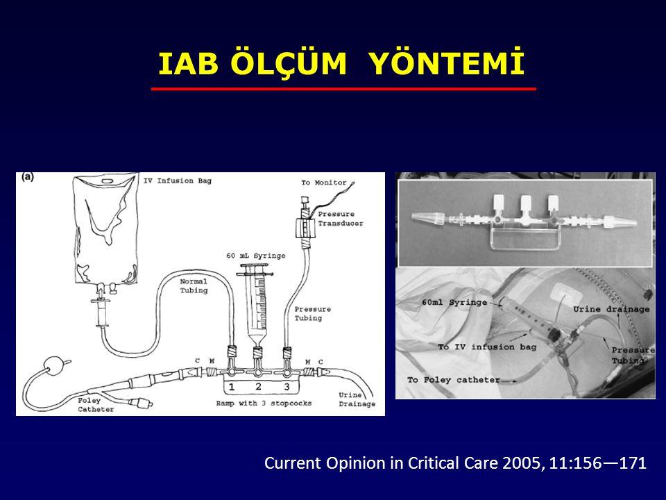 IAB ÖLÇÜM YÖNTEMİ Current Opinion in Critical Care 2005, 11:156—171