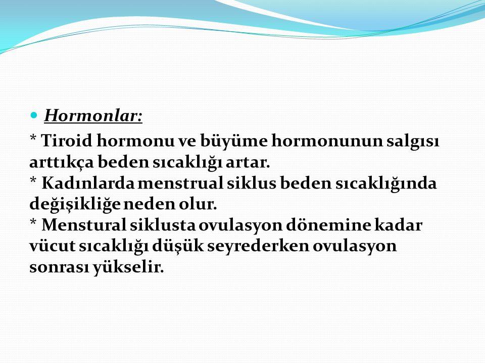 Hormonlar: