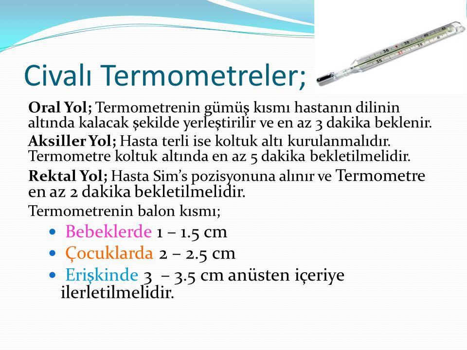 Civalı Termometreler;