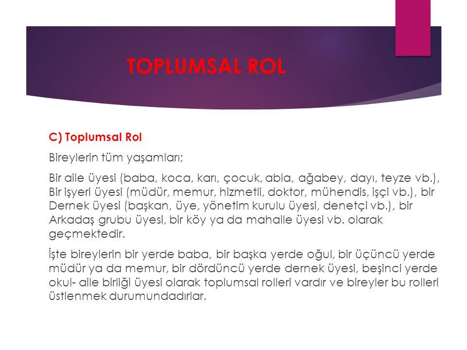 TOPLUMSAL ROL
