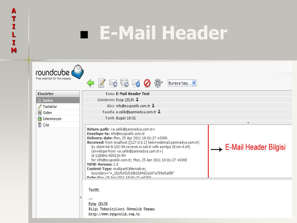 A T I L M E-Mail Header