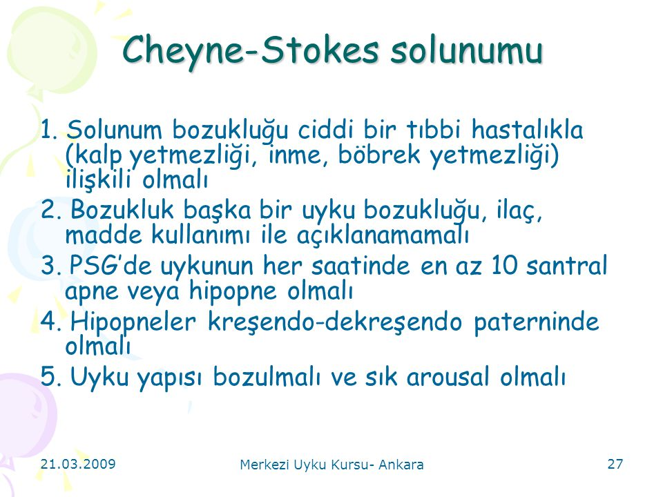 Cheyne-Stokes solunumu