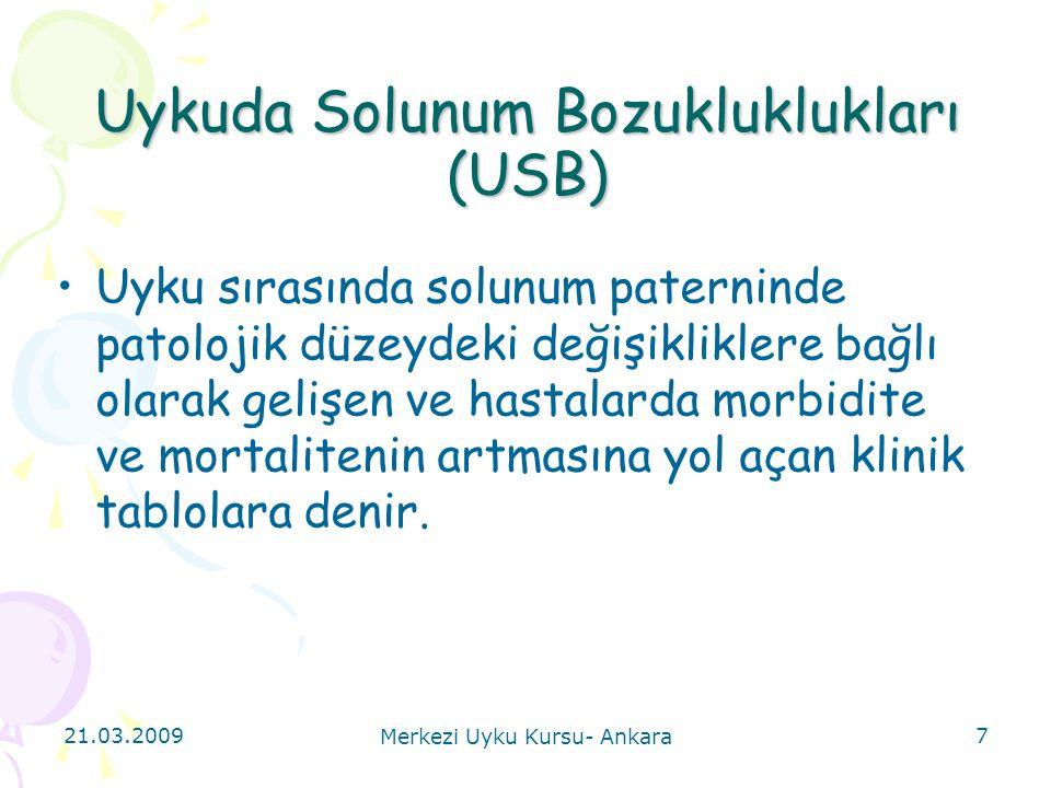 Uykuda Solunum Bozukluklukları (USB)